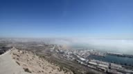 The harbour and buildings of Agadir video