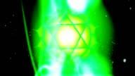 The Heart Chakra Anahata Mandala Spins in Energy Field video