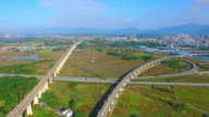 The highway in the karst landscape in guilin video