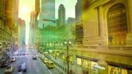 The historic Grand Central Terminal on 42nd Street video