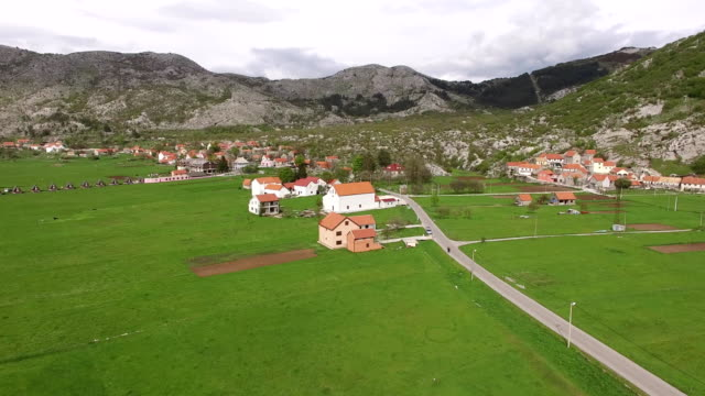 The house and the village in the mountains. The village Njegusi video