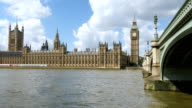 The Houses of Parliament, UK. Westminster Bridge. video