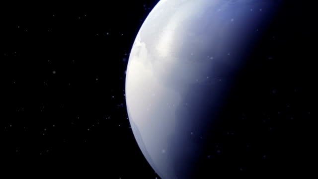 The Ice Age over planet earth as seen from outer space - angle 1 video