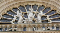 The images carved on the wall of the Notre Dame Cathedral video