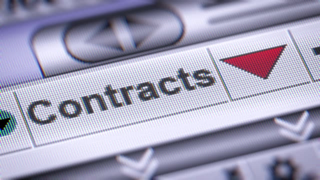The Index of Contracts on The Screen. video