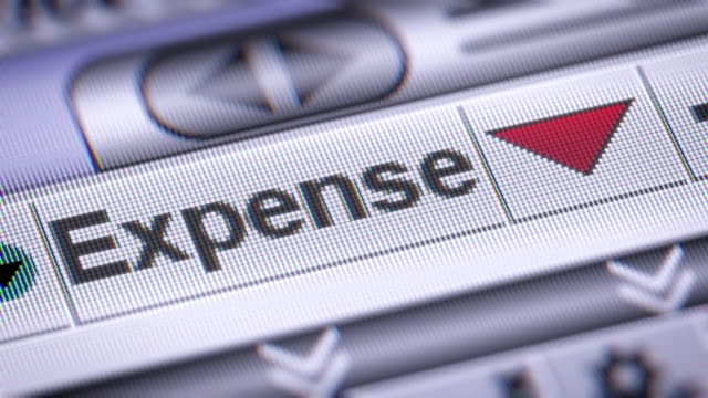 The Index of Expense on The Screen. video