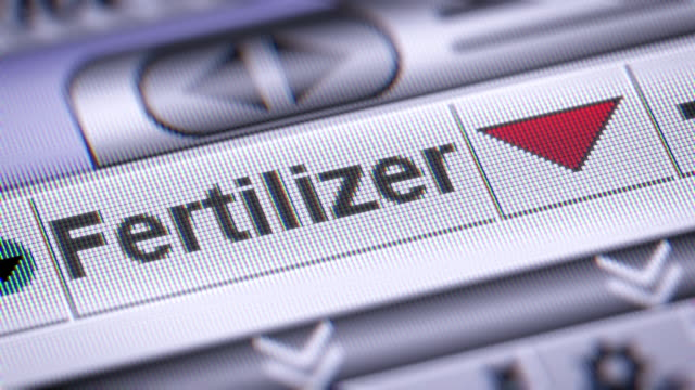 The Index of Fertilizer on The Screen. video