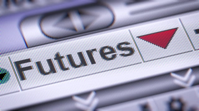 The Index of Futures on The Screen. Looping. video