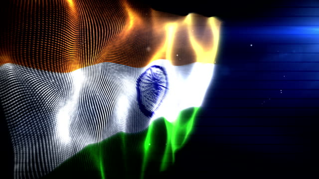 The Indian Flag - Background Loop (Full HD) video