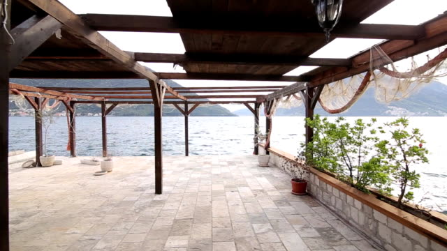 The interior of the fishing restaurant. Fish Cafe. Seafood resta video