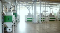 The interior of the milling plant video