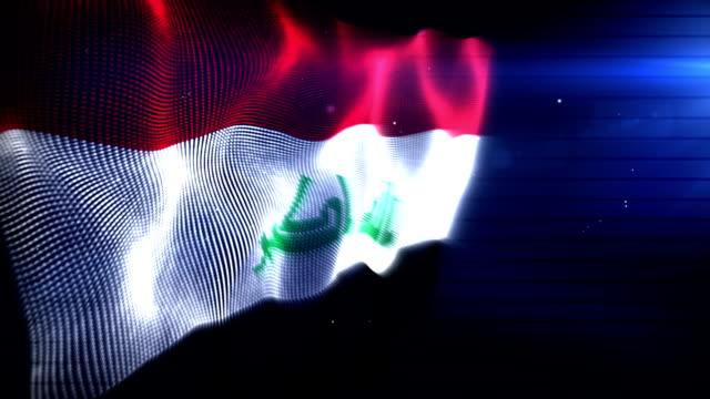 The Iraqi Flag - Background Loop (Full HD) video