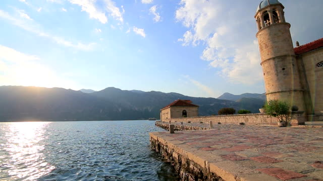 The island of Gospa od Skrpjela, Kotor Bay, Montenegro video
