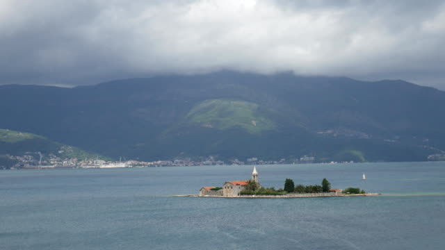 The island Tivat, Kotor Bay, Montenegro video