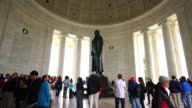 The Jefferson Memorial during the Cherry Blossom Festival video