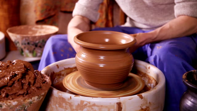 The jug made by a Potter video