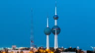 The Kuwait Towers day to night timelapse - the best known landmark of Kuwait City. Kuwait, Middle East video