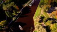 The lake park in Parnu Estonia video