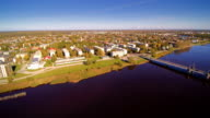 The landscape view of the beautiful city of Parnu video