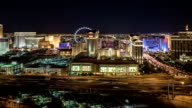 The Las Vegas Strip at Night - camera pan left video
