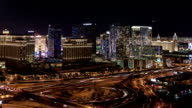 The Las Vegas Strip at Night - camera pan right video