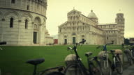 The leaning tower of Pisa in Campo dei Miracoli video