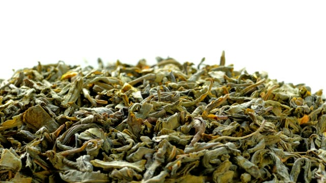 The leaves of green tea video