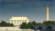 The Lincoln Memorial and Washington Monument video