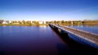 The long bridge in the city of Parnu video