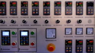 The main control panel with buttons, voltmeter and digital displays video