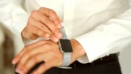 The Man Puts a Hand on Apple Watch video