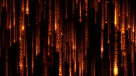the many sparkling falling lines digits in cyberspace - seamless loop video