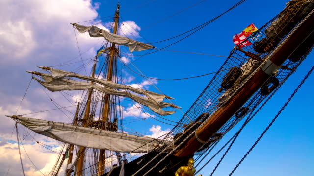 The Masts of Sailing Ship. video