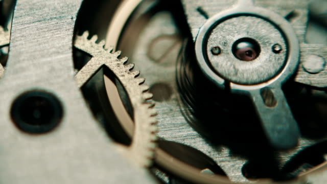 The mechanism of analog hours. video