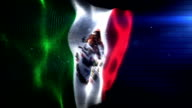 The Mexican Flag - Background Loop (Full HD) video
