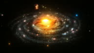 The Milky Way. Spiral Galaxy. Loopable. Astronomy background. video