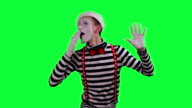 The mime is behind an invisible wall video