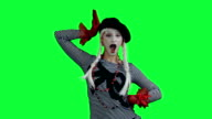 The mime posing like a fashion model video