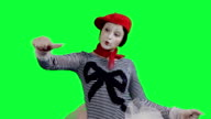 The mime showing thumbs up video