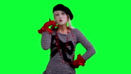 The mime talks on cell phone invisible video