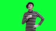 The mime thinks about something video