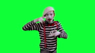 The mime uses an invisible camera video