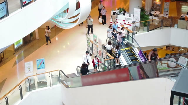 The modern shopping mall with customers video