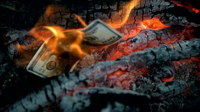 the money burned in the fire video