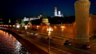 The Moscow Kremlin at Night video