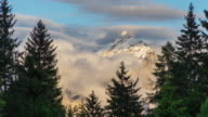The Mountain Peak of Dolomite in sunset time, Italy video