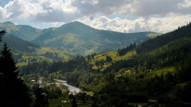 The movement of clouds high in the Carpathian Mountains (Timelapse) video