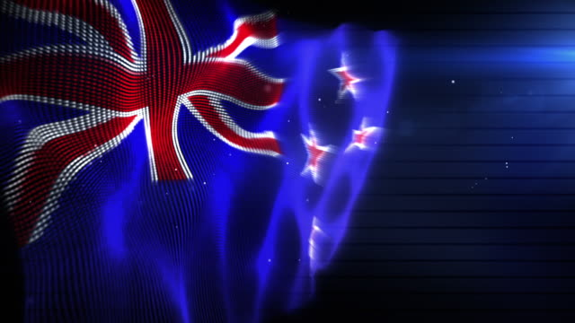 The New Zealand Flag - Background Loop (Full HD) video