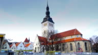 The Niguliste church in Tallin Estonia video