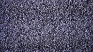 The noise on the TV screen video